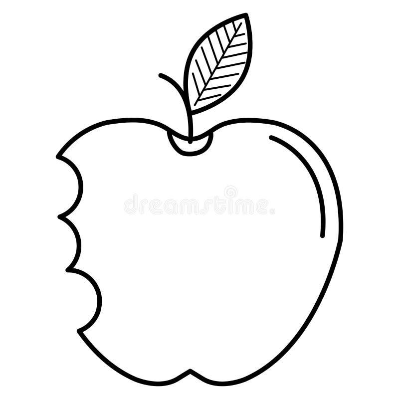 Apple con el icono de la mordedura libre illustration