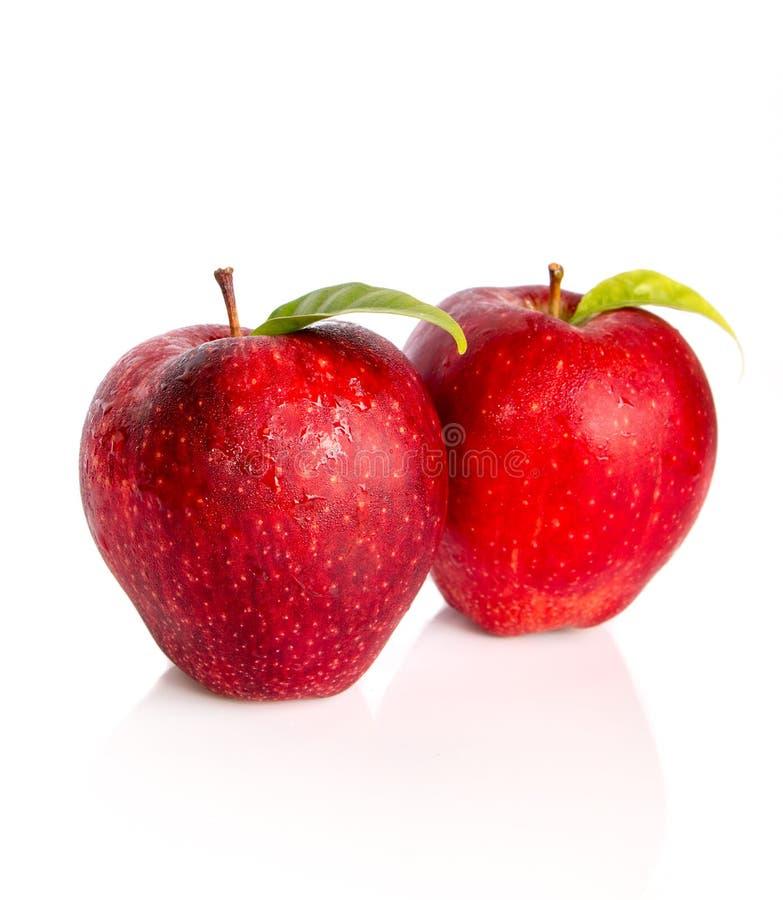 Download Apple Con La Foglia Isolata Fotografia Stock - Immagine di organico, foglio: 55359048