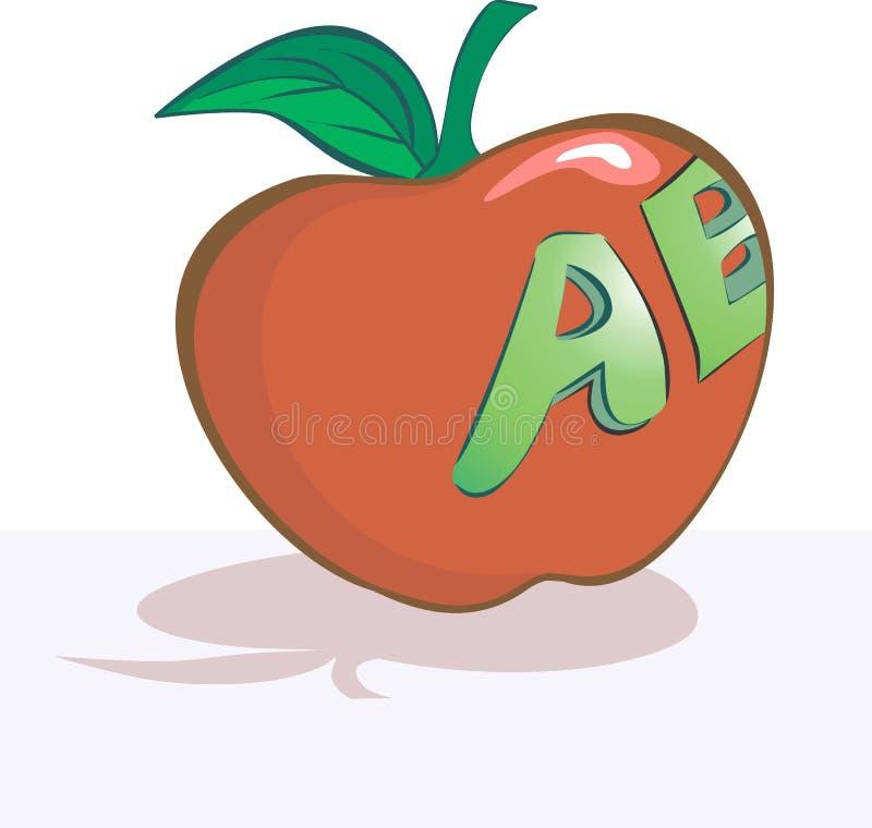 Apple con scrittura illustrazione di stock