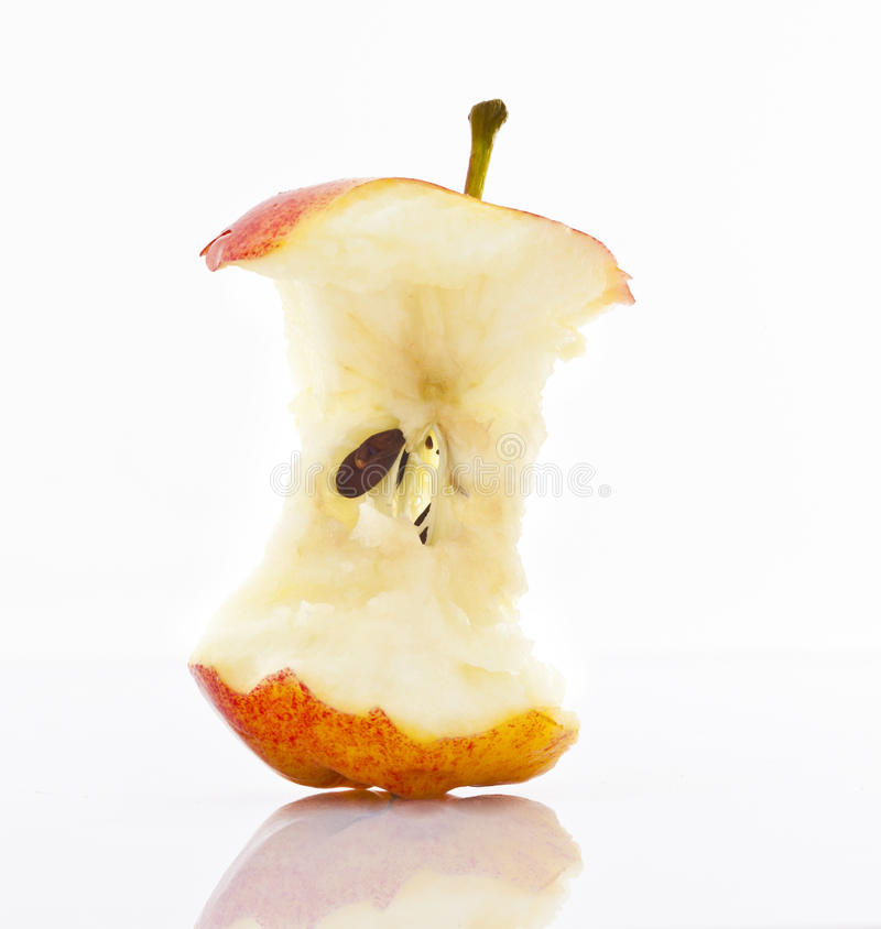 Apple Core royalty free stock photography