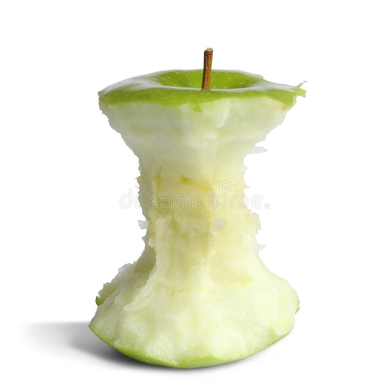 Apple Core stock photography