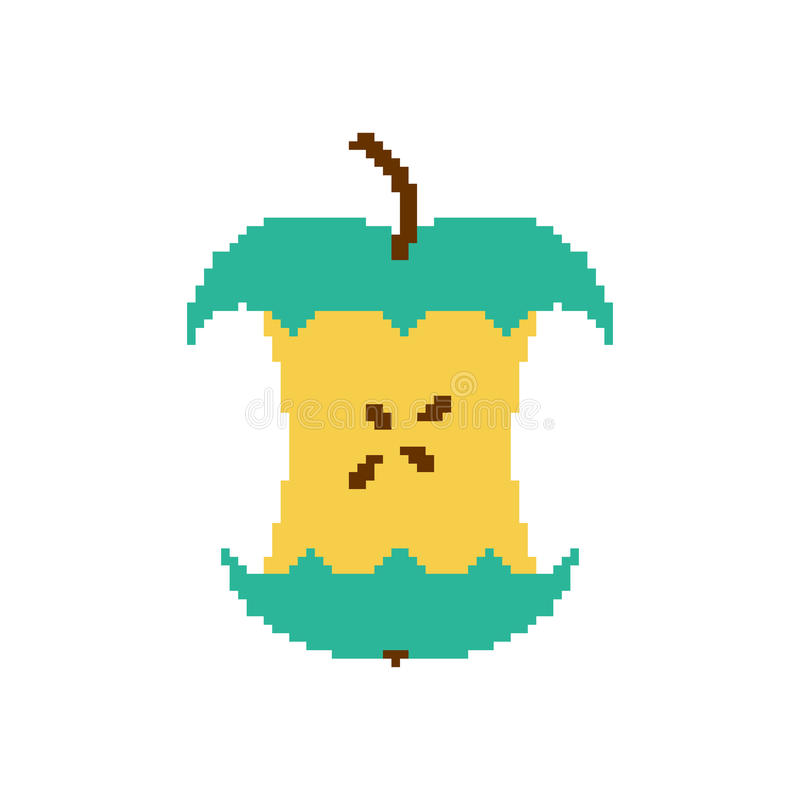 Green Apple Pixel Art Stock Illustration. Illustration Of