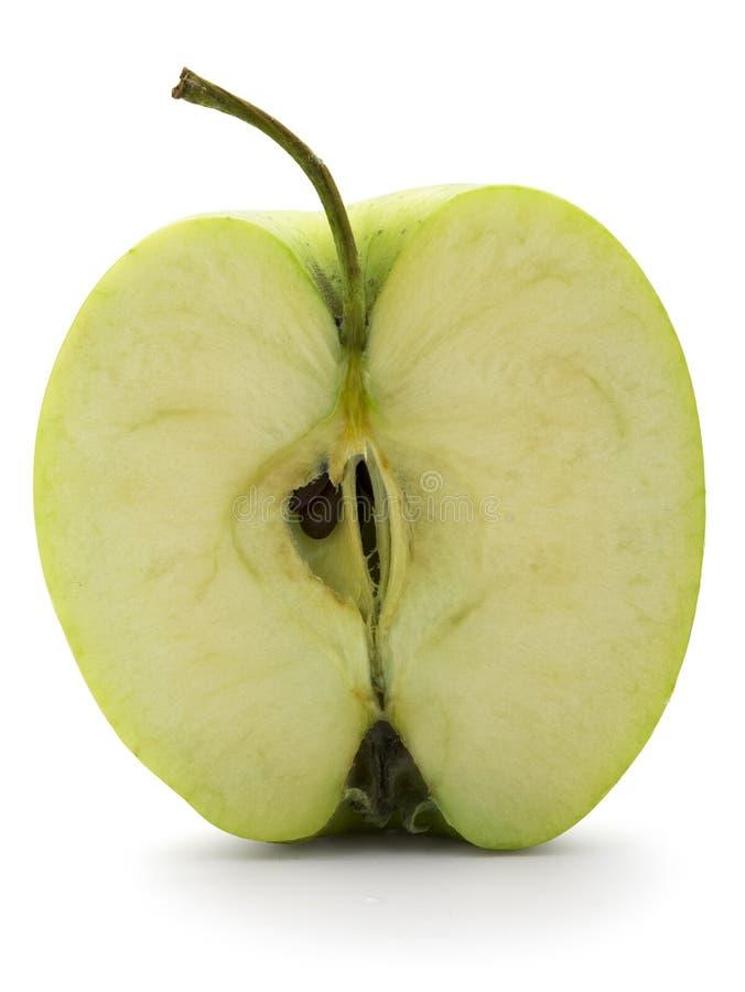 Apple cortó adentro a medias foto de archivo libre de regalías