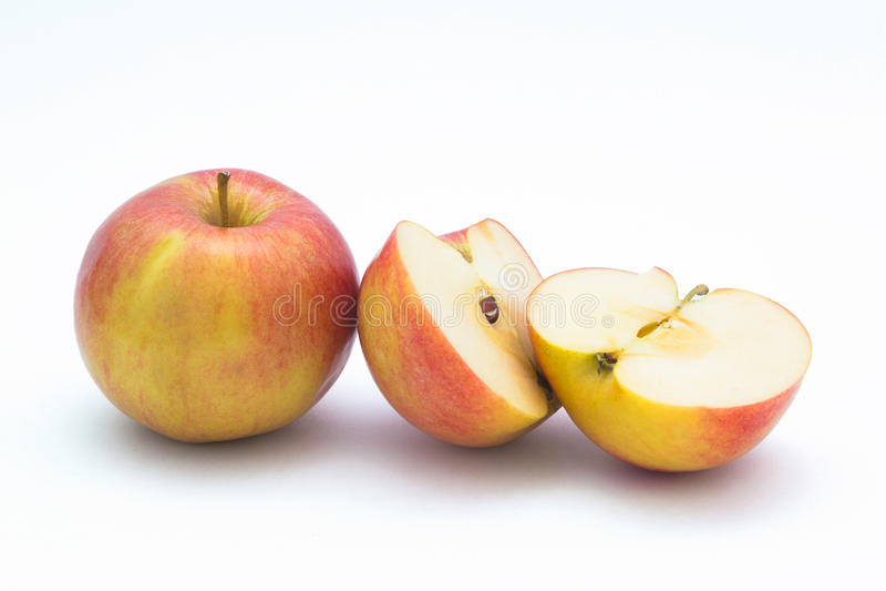 Apple cortó adentro a medias fotografía de archivo