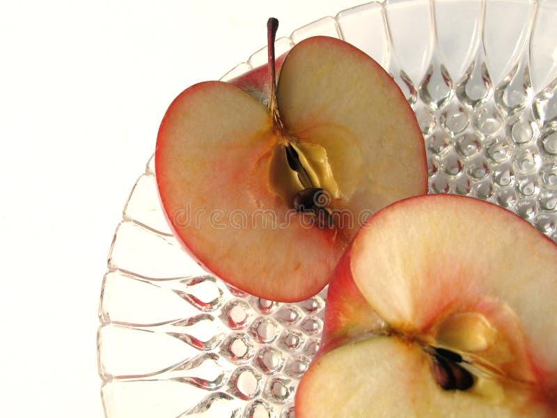 Apple cortou foto de stock royalty free