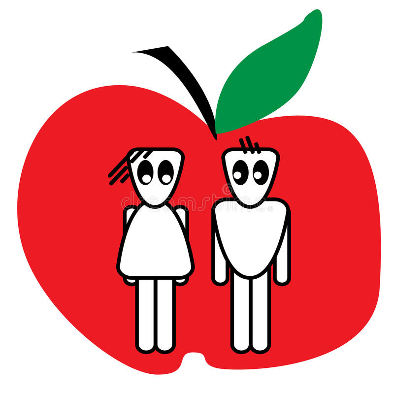 Apple couple royalty free stock photo