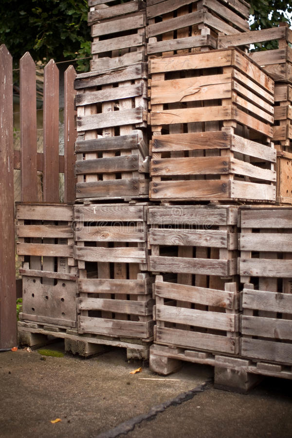 Download Apple crates stacked up stock image. Image of fresh, nature - 13839643
