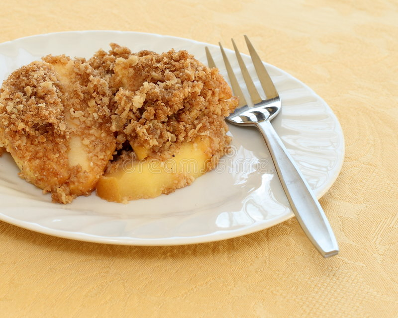 Apple crisp. Delicious apple crisp dessert ready to eat royalty free stock photo