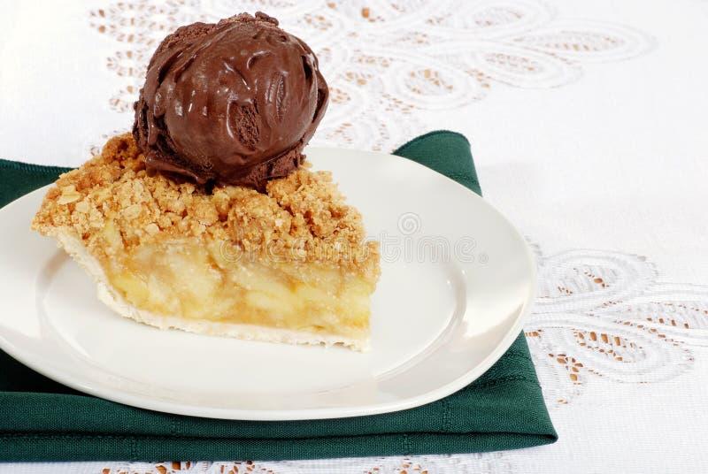 Download Apple Crisp With Dark Chocolate Ice Cream Stock Photo - Image: 16095214