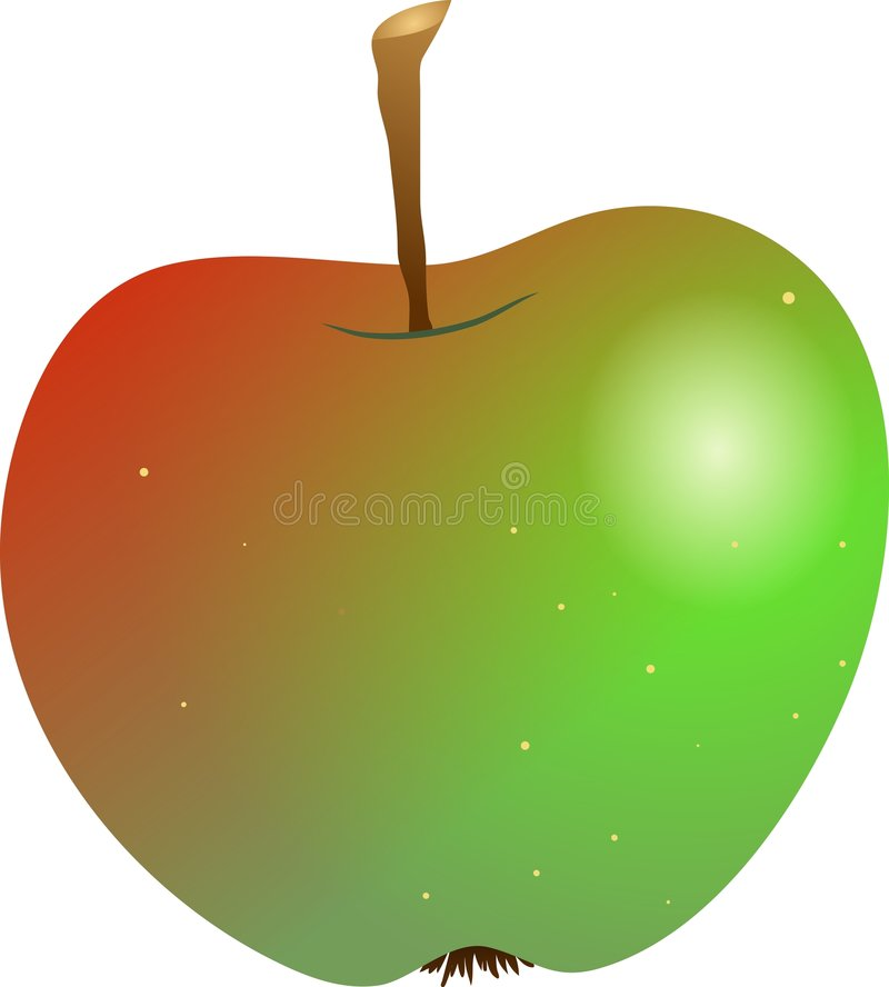 Apple croquant illustration stock