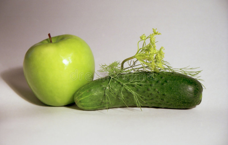 Apple, cucumber and fennel royalty free stock photo