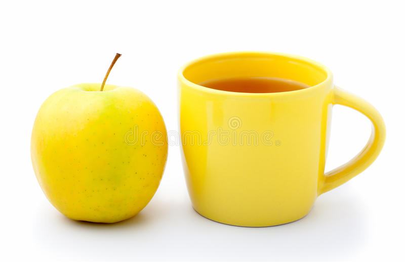 Apple With Cup Tea Royalty Free Stock Photography