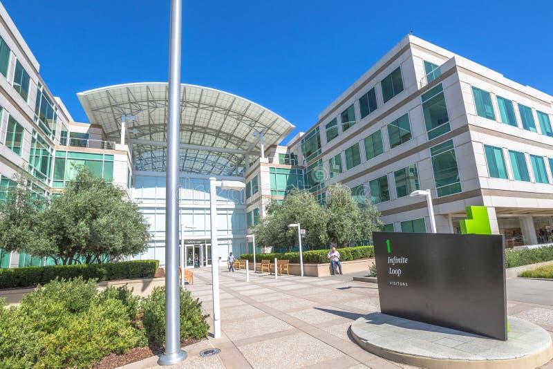 Apple Cupertino Silicon Valley royaltyfri fotografi