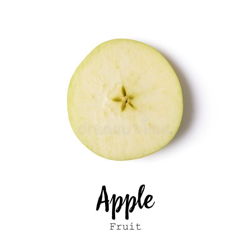Apple découpé en tranches a isolé au-dessus du blanc photos stock