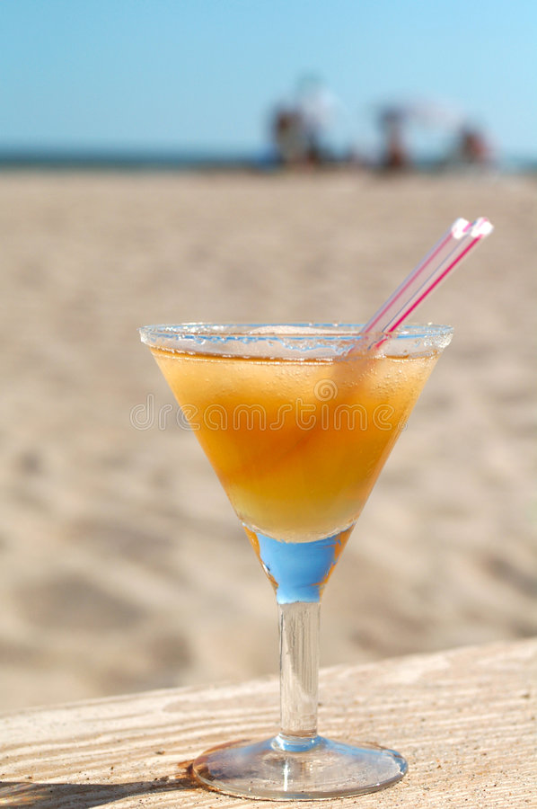 Apple Daiquiri cocktail on the sunny beach stock photography