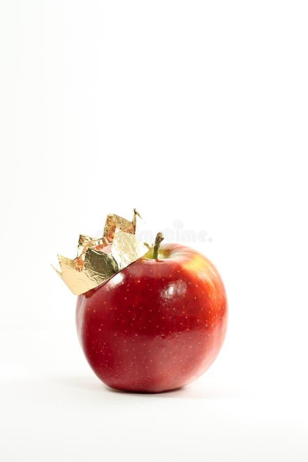 Apple dans une tête d'or photos libres de droits