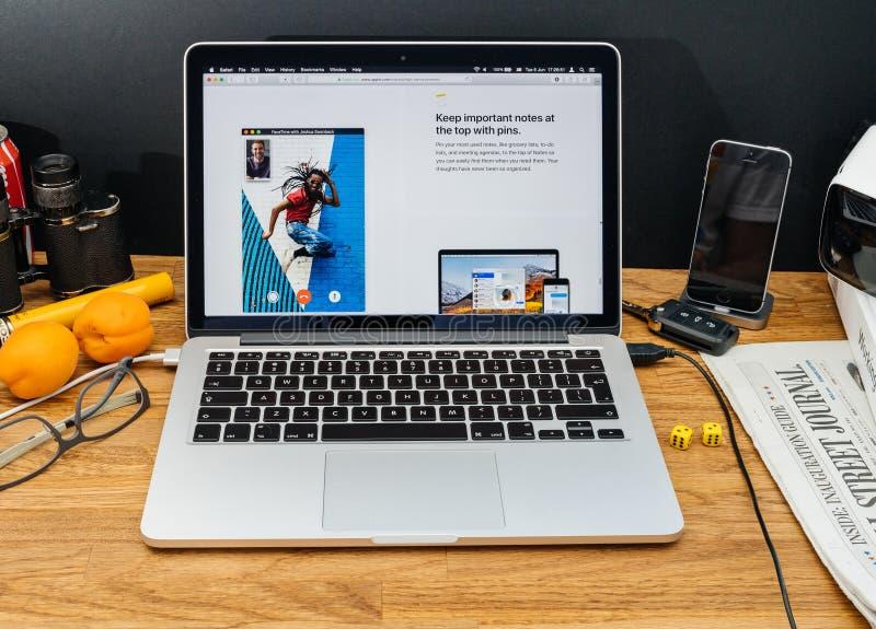 Apple-datorer på senast meddelanden för WWDC av anmärkningar app, arkivbild