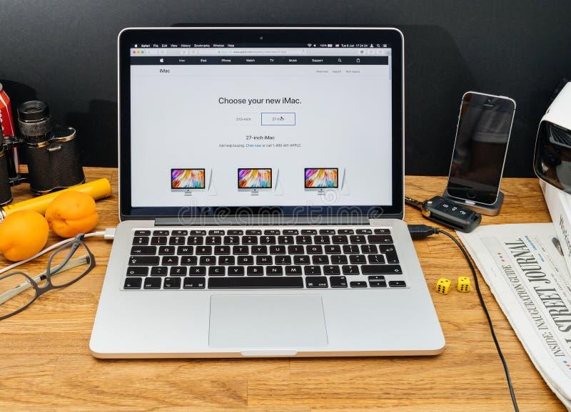 Apple-datorer på senast meddelanden för WWDC av det iMac specifikations-köpet arkivbilder