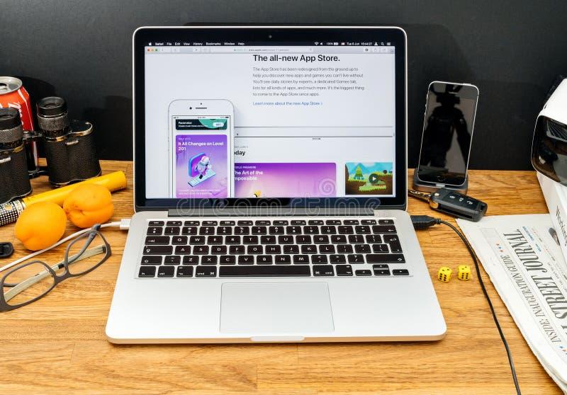 Apple-datorer på senast meddelanden för WWDC av det nya app-lagret, arkivfoton