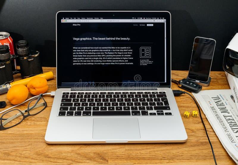 Apple-datorer på senast meddelanden för WWDC av iMac pro-Radeon fotografering för bildbyråer