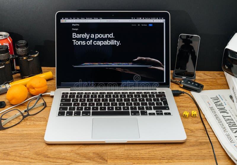 Apple-datorer på senast meddelanden för WWDC av ipadpro-vikt, arkivbilder