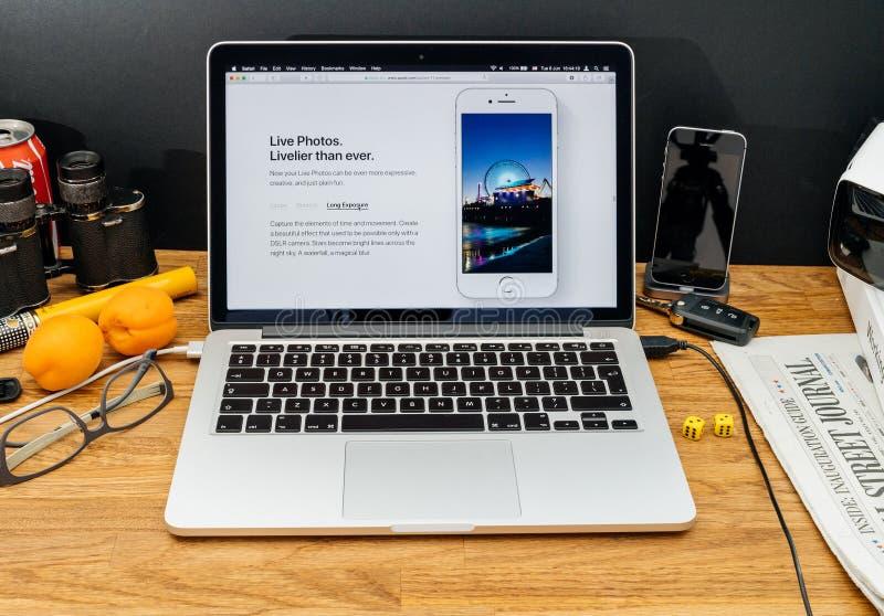 Apple-datorer på senast meddelanden för WWDC av nya levande foto, arkivfoto