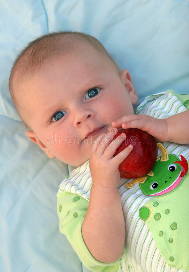Apple a day royalty free stock image