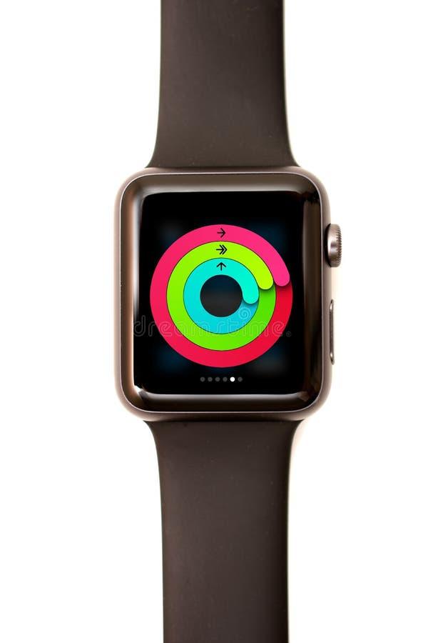 Apple-de Blik van de Horlogeactiviteit stock fotografie