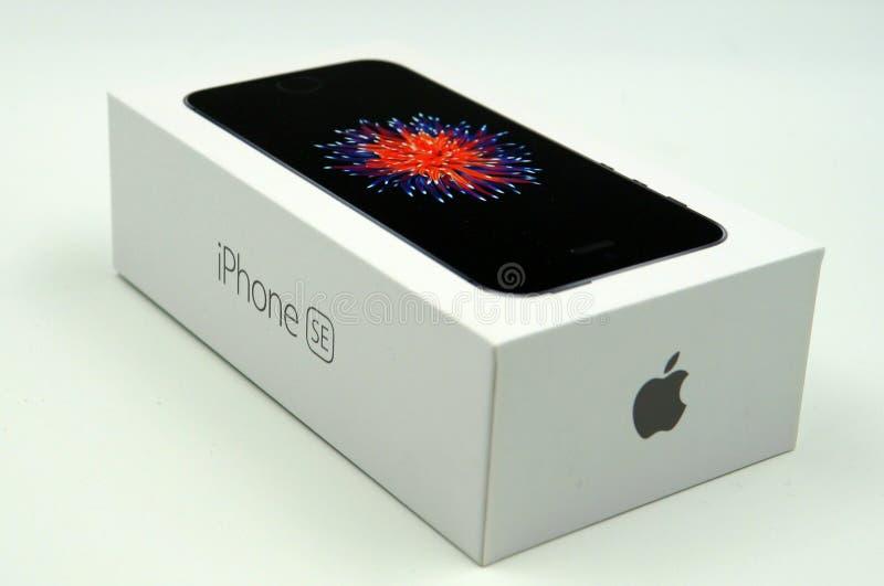 Apple-de kleinhandelsdoos van iPhonese royalty-vrije stock foto
