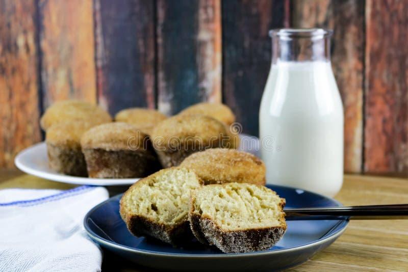 Apple-de Muffins van de Ciderdoughnut stock afbeeldingen