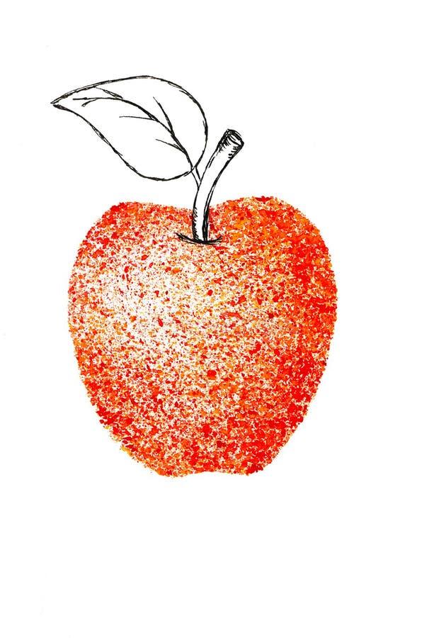 Apple-de schets van de de sappigheidsschets van de waterverftuin vector illustratie