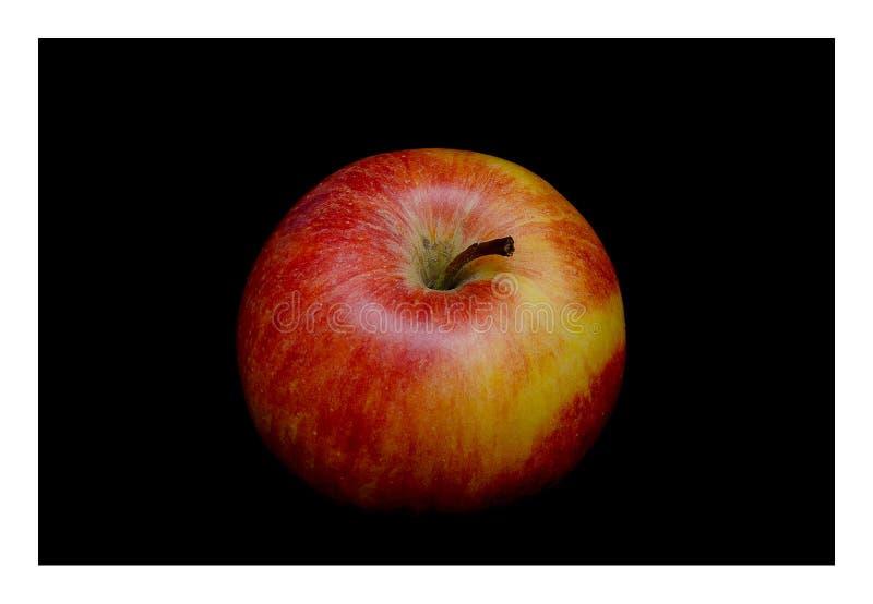 Apple in der Dunkelheit stockbilder