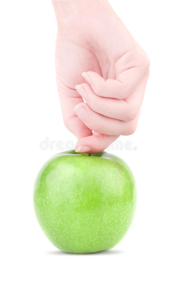 Apple in der Hand stockfotografie