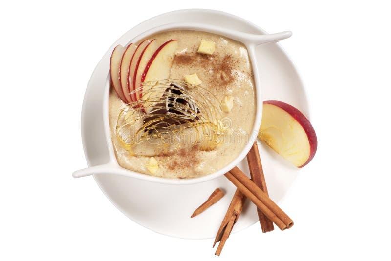 Apple Dessert. With cinnamon - cutout stock image