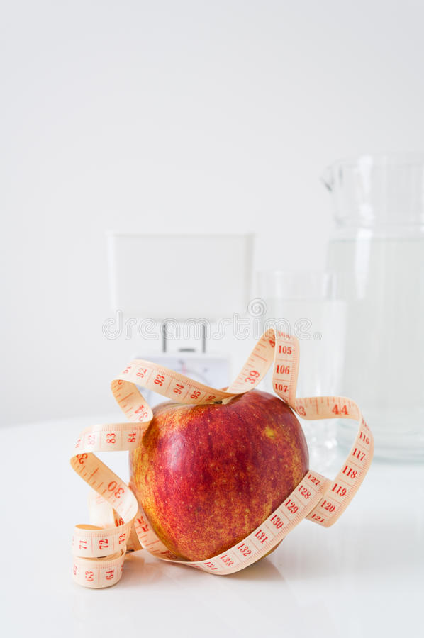 Download Apple diet stock image. Image of concept, glass, counting - 28586757
