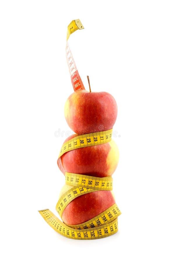 Apple diet stock photos