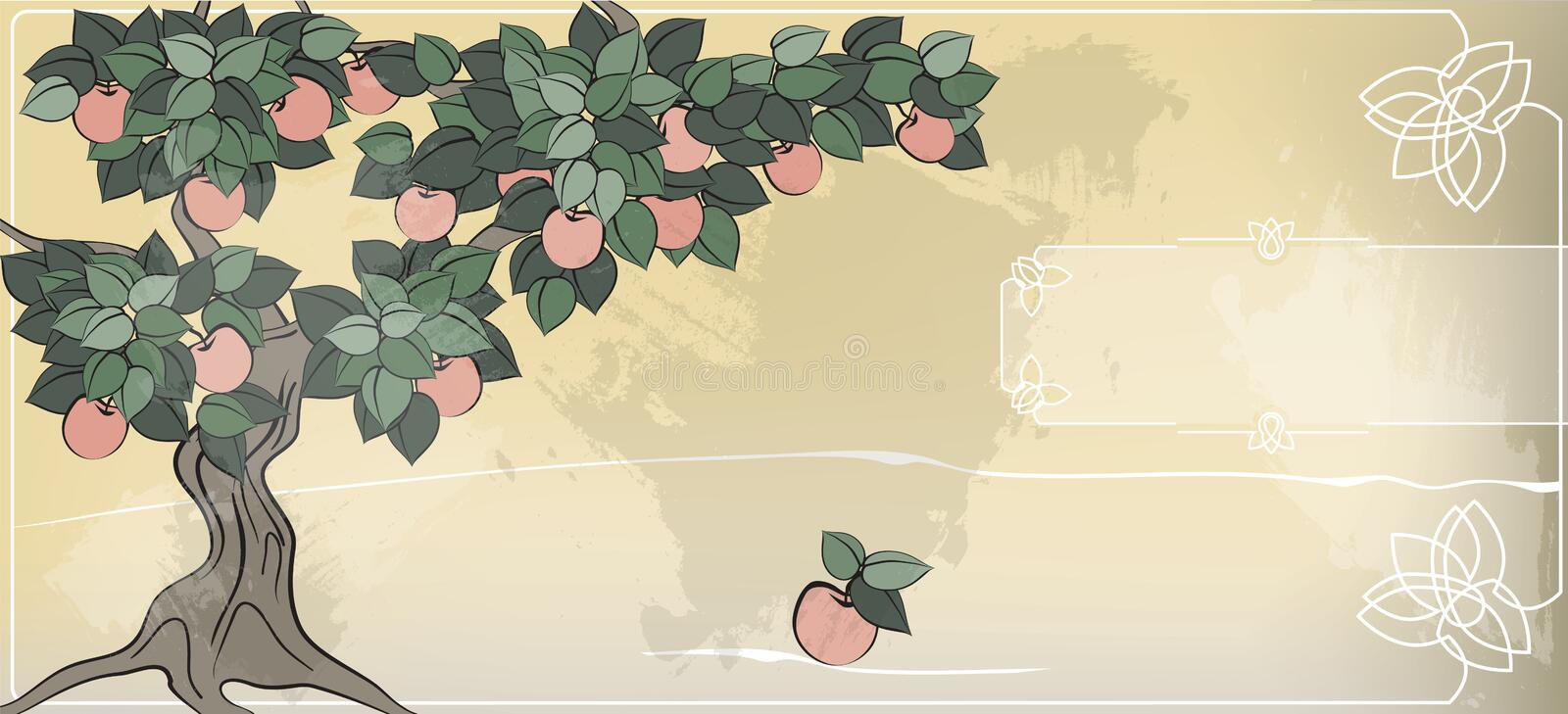 Download The Apple Does Not Fall Far From The Tree Stock Illustration - Illustration: 24275266