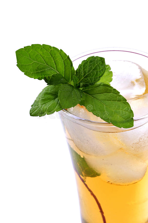 Apple drink with mint royalty free stock photos