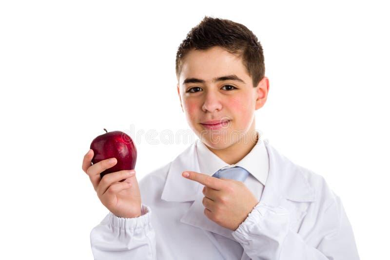Apple dzień utrzymuje doktorskiego oddalonego, starego saying, obraz royalty free