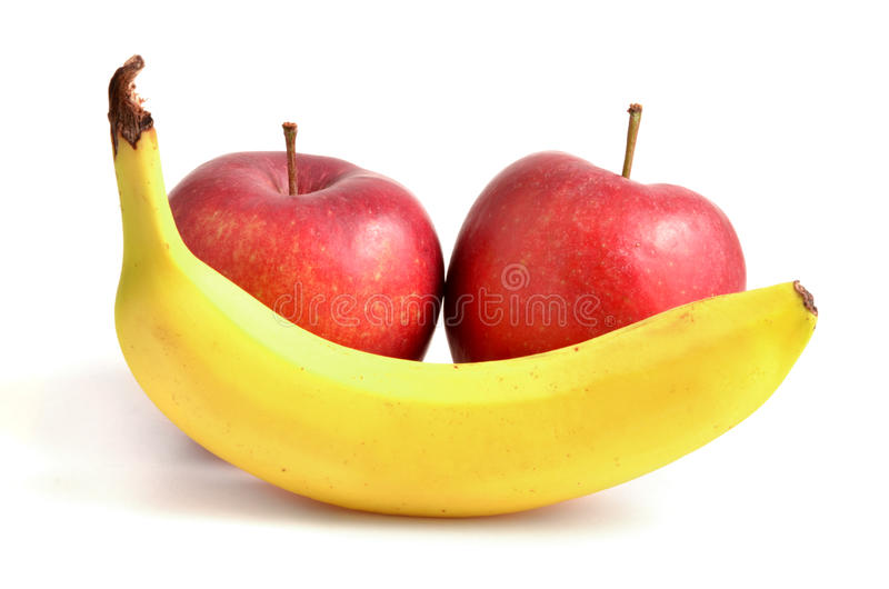 APPLE E BANANA imagem de stock royalty free