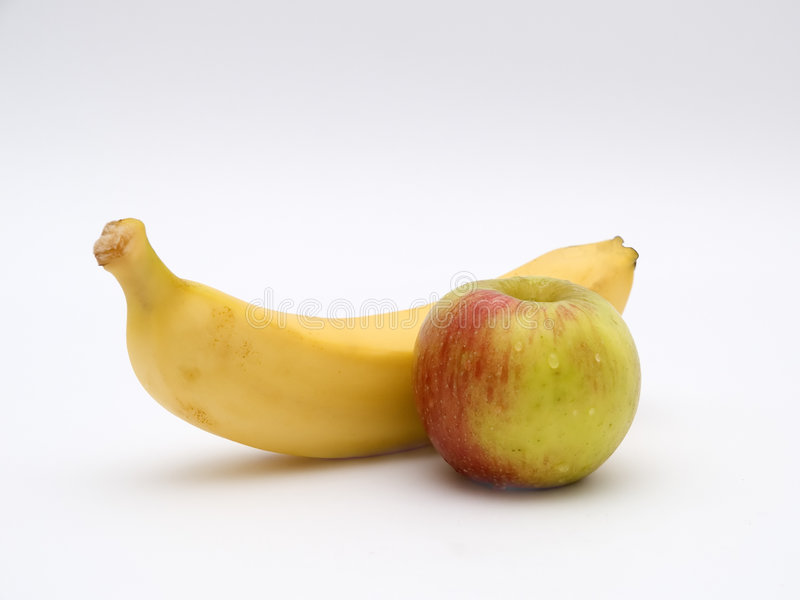 Apple e Bananna fotos de stock royalty free