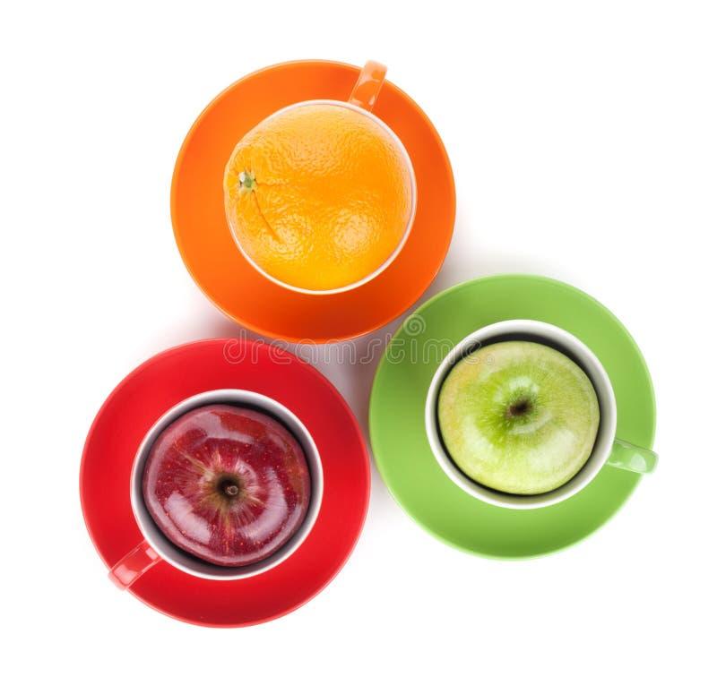 Apple e chá alaranjado do fruto foto de stock royalty free