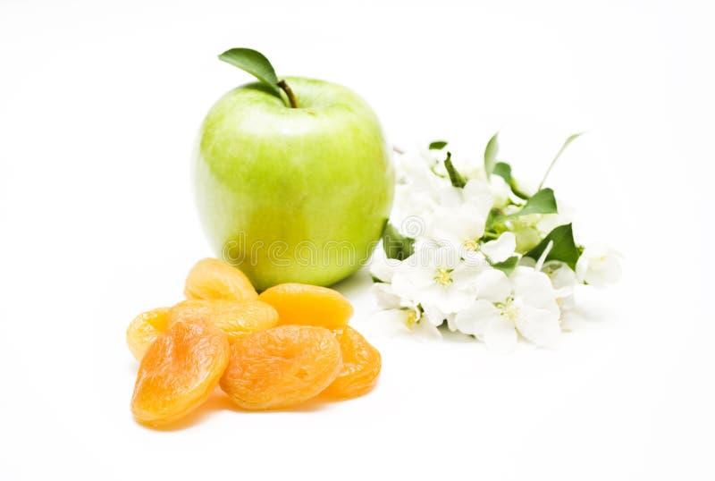 Apple e flores fotografia de stock