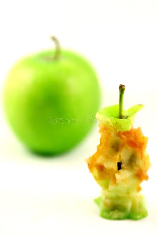 Apple e núcleo da maçã imagem de stock