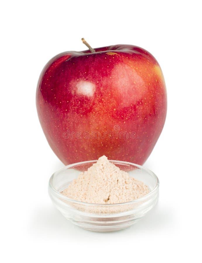 Apple e polvere della pectina fotografia stock libera da diritti
