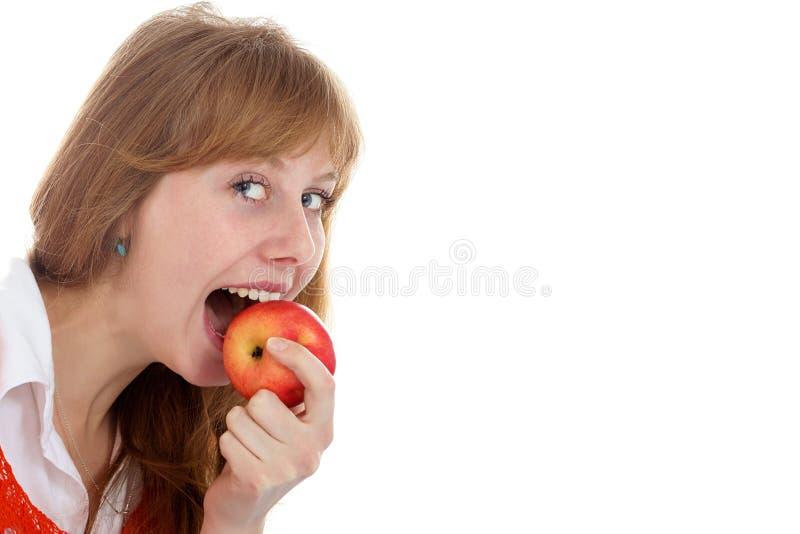 Apple e ragazza di bellezza fotografie stock libere da diritti