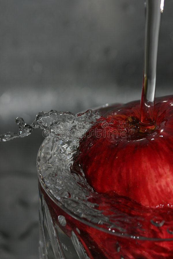 Apple Ed Acqua Fotografia Stock