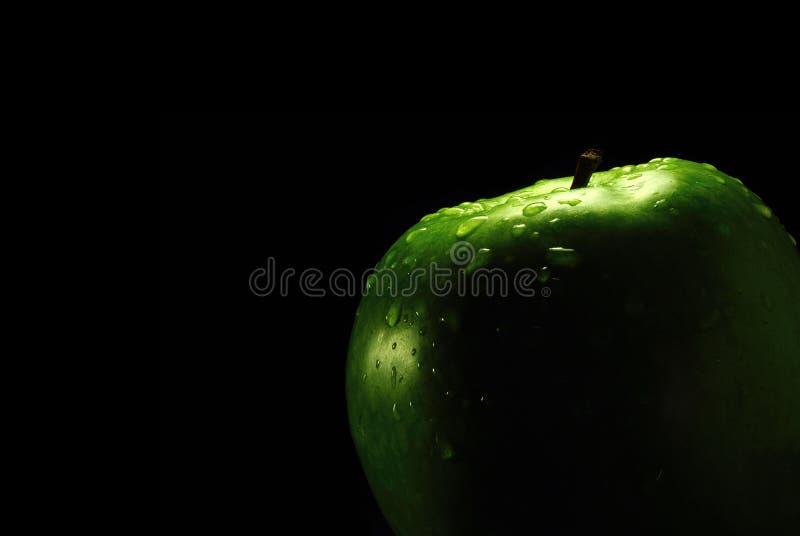 Apple ed il nero fotografia stock libera da diritti