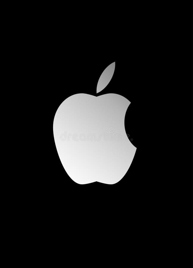 Apple-embleem royalty-vrije illustratie