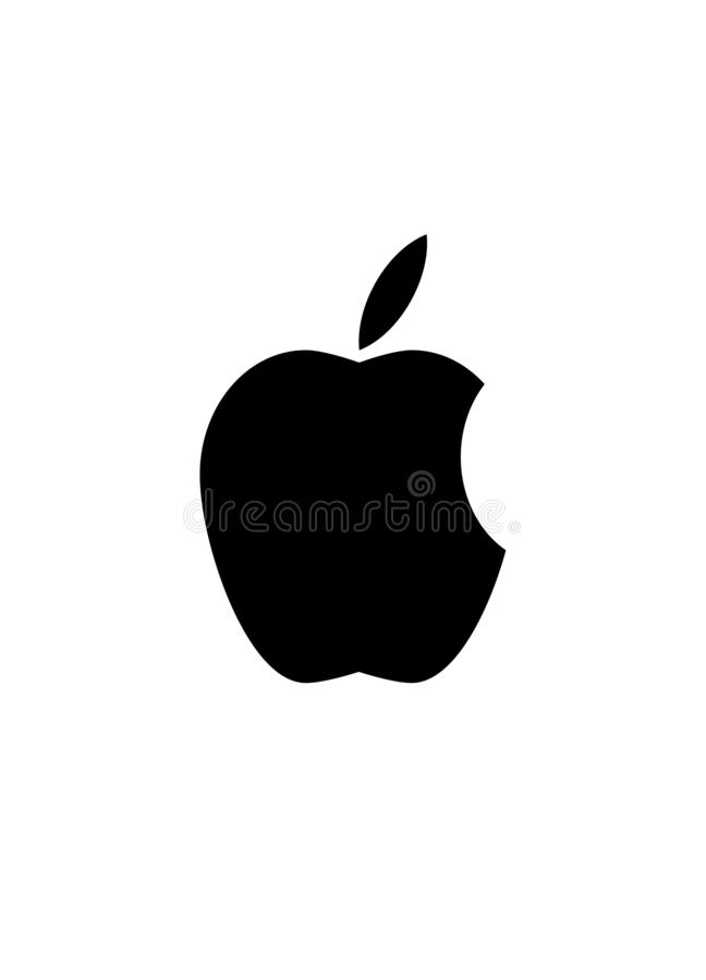 Apple-embleem stock illustratie